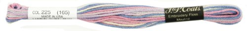 Coats Crochet 6-Strand Embroidery Floss, Pastels, 24-Pack