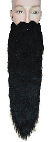 Lacey Wigs Hillbilly Beard Long Black ()