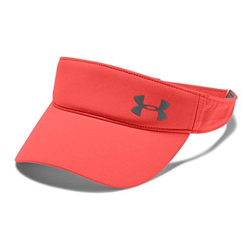 Under Armour Women's Fly-By Visor, After Burn (877)/Silver, One Size