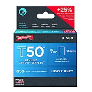 Arrow Fastener Co Inc Arrow Fastener 509 9/16'' 14mm T50 Staples - 24ct. Case