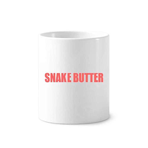 Serpiente mantequilla vegetales alimentos cepillo para polvo de dientes titular de la taza de cerámica blanca 350 ml