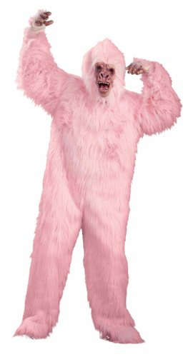 Forum Love Monkey Pink Monkey Suit Costume, Pink, One Size (Pink Gorilla Halloween Costumes)