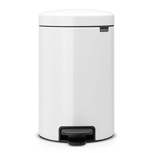Brabantia Step Trash Can newIcon with Plastic Inner Bucket, 3.2 Gal. - White