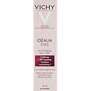 Vichy Idéalia Anti-Aging Eye Cream with Vitamin C and Caffeine, 0.51 Fl. Oz.