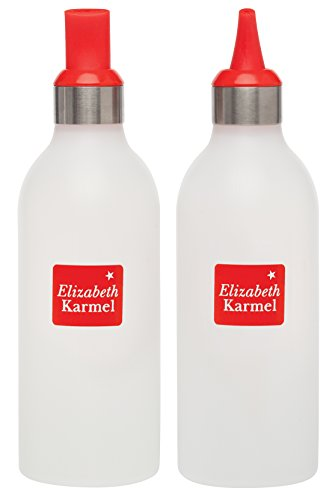 Make No Flour, No Sugar Crepes with Elizabeth Karmel's Saucy 16-Ounce Squeeze Bottles with Decorator Tips, Set of 2