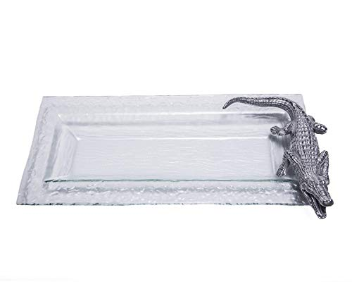 Arthur Court Designs Aluminum Alligator Oblong Serving Food Tray 18