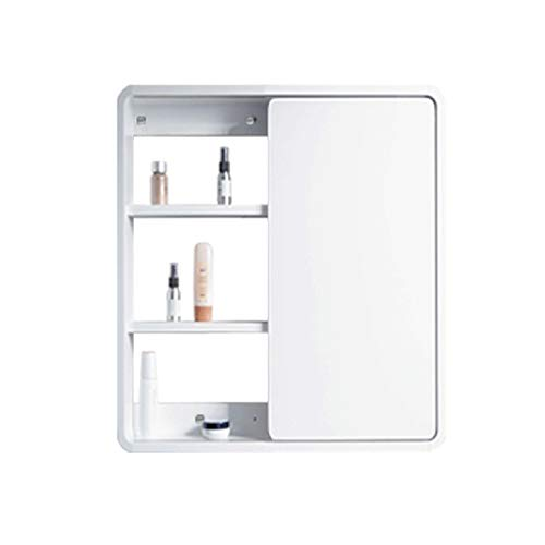 Concealed Feng Shui Mirror Bathroom Cabinet Push-Pull Mirror Solid Wood Cabinet Modern -