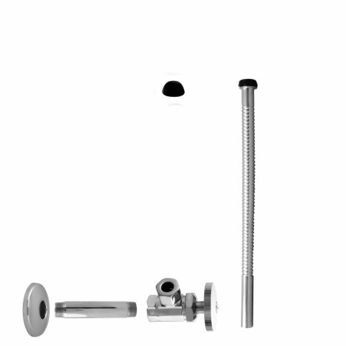 - IPS Angle Stop Kit, Satin Nickel,Inlet 1/2 IPS, 1/2 O.D. Outlet X 12. Consists of No.1021 Valve, No.116 Riser and No.129 Flange