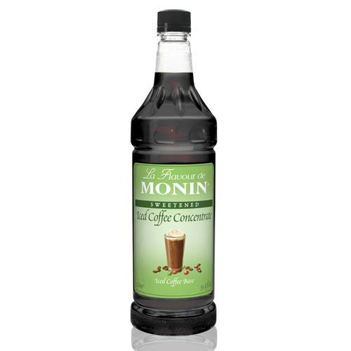 - Monin 1 Liter Premium Iced Coffee Concentrate