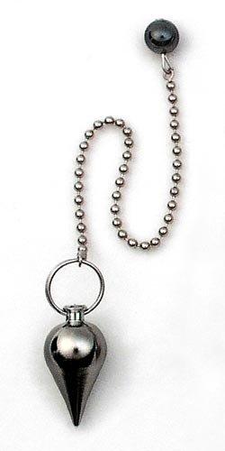 Xeonix Pendulum for Dowsing - Classic Tear Drop Stainless Steel Pendulum, Vibration-free Bead Chain, Hematite Bead, Metaphysical Divination Tool