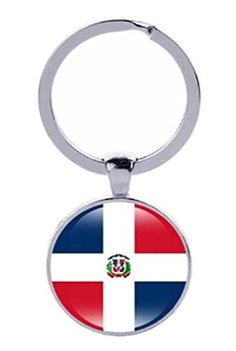 Llavero con la bandera nacional del país, llavero, llavero, llavero, llavero, llavero, República Dominicana