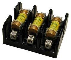 Fuseholder, Fuse Block, 600V, 100A, Class J, Box Lug, Retaining Clip, 3 Pole