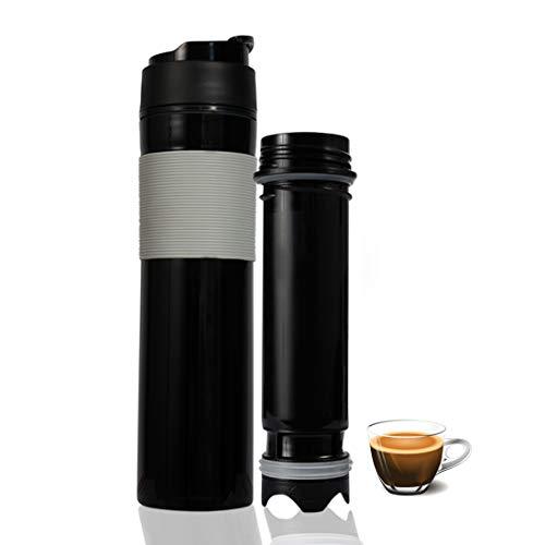 - Portable French Press Coffee Maker - French Press Travel Mug - 12 oz Keep Cold & Warm (Black, Polypropylene)