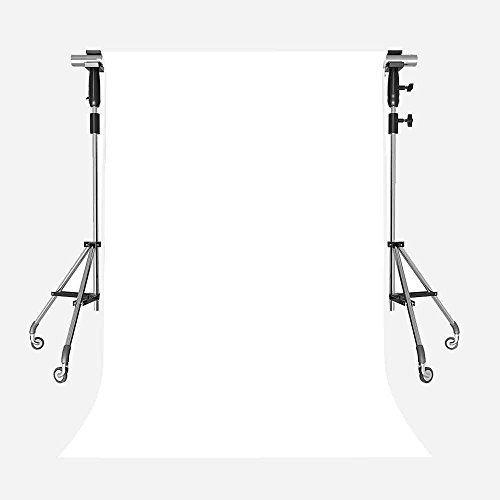 MEETS 5x7ft Non-woven Fabric Backdrop White Fashion Fresh Photography Background Studio Props Photo Booth YouTube Backdrop BWMT001