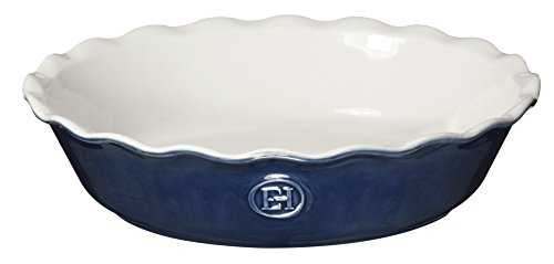 Emile Henry Made In France HR Modern Classics Pie Dish, 9 inch, Blue