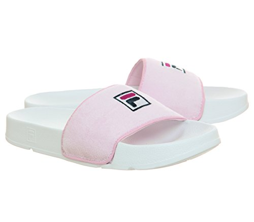 Drifter Chalk uk Fila Slides Terry Pink white Womens 6 W4xx1n