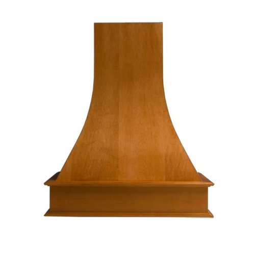 Omega National 48 inch W Artisan Wood Wall Chimney Range Hood, 260-650 CFM, Unfinished, Maple by Omega National Products