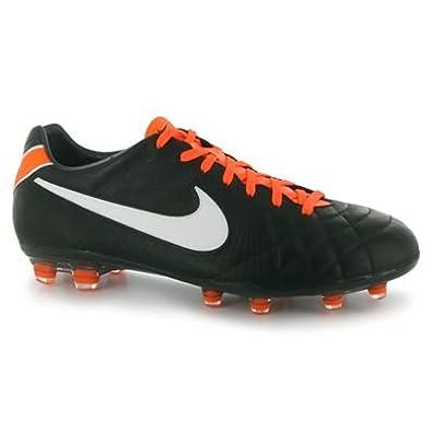 purchase cheap 45142 00dd5 Tiempo Legend IV Elite FG Football Boots Black White Orange - size 9