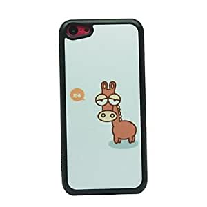 Lazy Deerlet Drawing Pattern Hard Case for iPhone 5C