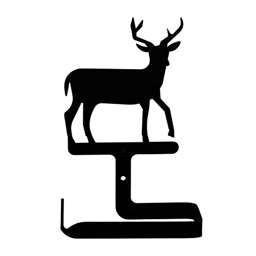 Wrought Iron Traditional Deer Toilet Tissue Holder - Haven Tissue