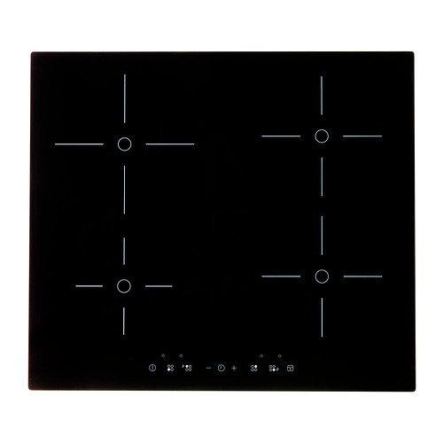 IKEA FOLKLIG - Placa de inducción con refuerzo, negro - 58 ...