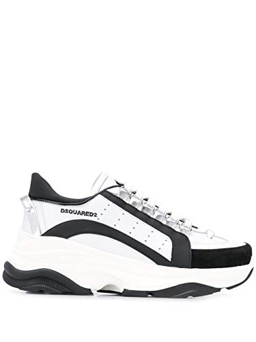 (DSQUARED2 Women's Snw004111570001m1576 White Leather Sneakers)