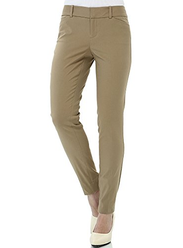 Khaki Career Pants - YTUIEKY Womens Dress Pants, Casual Slim Fit Super Stretch Comfy Skinny Career Straight Fit Trouser Leg Pants Khaki