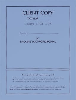 EGP Income Tax Return Folder Client Copy - 50 Folders by EGPChecks