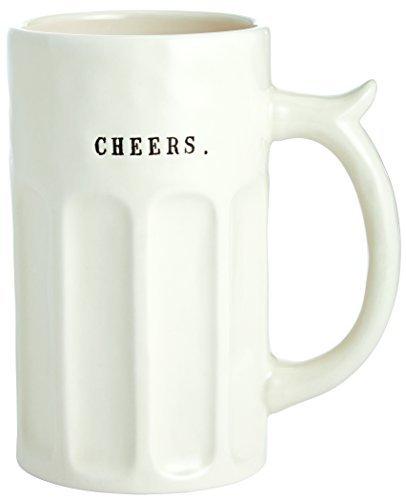 Rae Dunn by Magenta Ceramic Beer Stein- Cheers