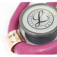 Stethoscope ID Tag - Ring - Littmann - Charm - Personalized Name Tag - Nurse Graduation Gift