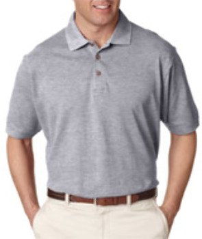 Ultraclub(R) Men'S Classic Pique Polo - Heather Grey (M) *** Product Description: 8535 Ultraclub(R) Men'S Classic Pique Polo : Heather Grey (M) The Standard In Polo Classics, With All The ()