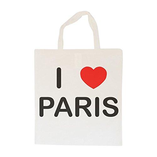 I Love Paris - Cotton Tote Bag