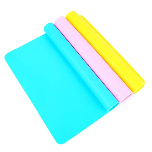 Large Silicone mats for epoxy,Silicone Sheet for Crafts,Silicone molds for Resin,Crafts Resin Jewelry Casting Mat PAD,No-Skid…