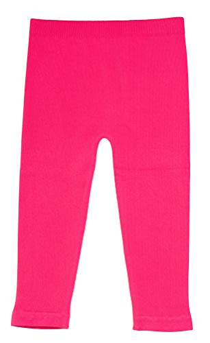 Silky Toes Baby Leggings, Toddler Seamless Soft Cotton Knit Pants for Girls and Boys (18-24 Months, Hot Pink) -