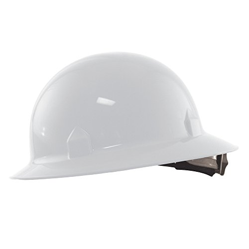 Jackson Safety 20697 Blockhead High Density Polyethylene Hard Hat with 8 Point Ratchet Suspension, White (Pack of - Hard Hat Blockhead