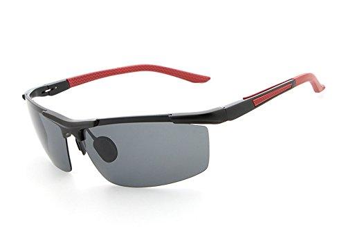 de Gafas Gafas Shishanyun Vidrios los Que nocturnas de la conducen de Las Noche Vidrios Profesionales Red la Sol gray Masculinas Hombres polarizadas de Sol visión de OxqfxAwd7