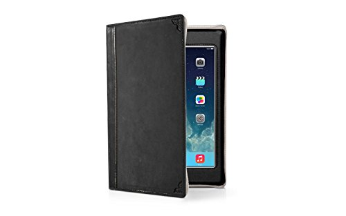 Twelve South 12-1235 BookBook for iPad mini, black | Vintage leather book case w/typing angle and display stand for iPad mini (1st, 2nd, 3rd gen.)
