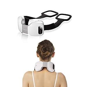 YKE Cordless Rechargeable Back Neck Massager Shoulder Shiatsu Massage with 3D Massage Nodes Bidirectional Rotation and Optional Heat Relieve Muscle Pain for Neck Shoulder Leg Waist Massager