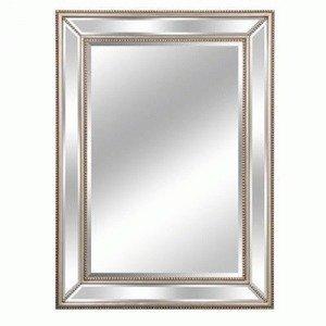 Lofty Mercer Diamond Mirror, 32 by 44-Inch, Silver by Lofty