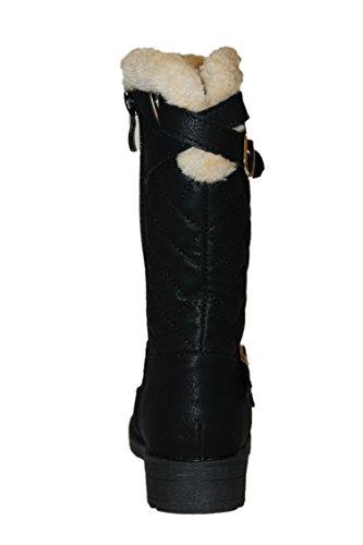 jili-bottes fourrées-noire-fille