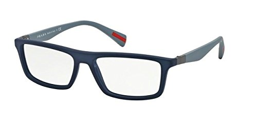 Prada PS02FV Eyeglass Frames TFY1O1-56 - Blue - Prada Eyewear Men