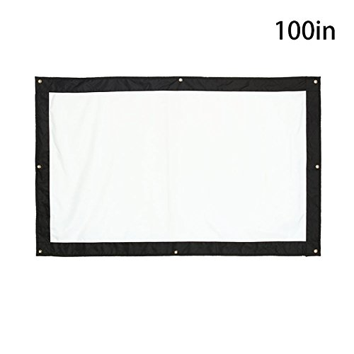 Projector Screen 100 inch Video Home Theater Folded Waterproof Professional Projector Screen_100 inch by ZZH