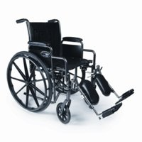 Everest & Jennings Traveler SE Wheelchair 18 X 16 Detachable Desk Arm, Elevating Legrest
