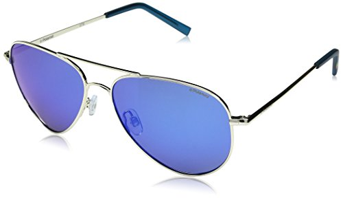 Polaroid Sunglasses PLD6012N Polarized Aviator Sunglasses, Gold/Gray Blue Mirror Polarized, 56 ()
