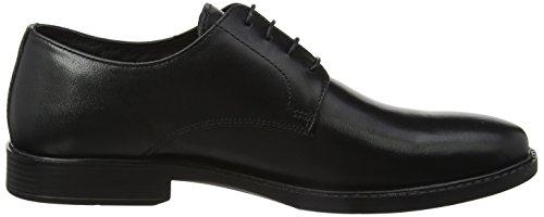 Negro Zapatos Langley para Red Derby de Cordones Tape Hombre UqwW8xF