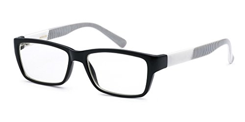 Nerd Rectangle Clear Lens Fashion Sunglasses RX Designer Eye - Designer Online Cheap Glasses