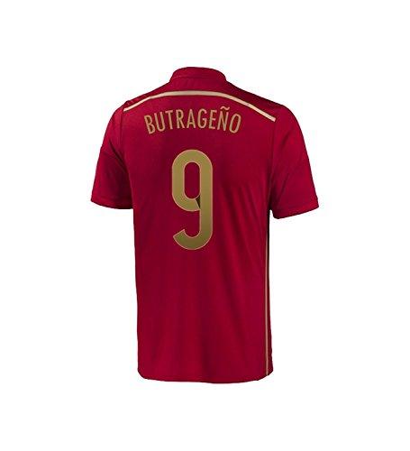 告白検出ミントAdidas BUTRAGEÑO #9 Spain Home Jersey World Cup 2014/サッカーユニフォーム スペイン ホーム用 ワールドカップ2014 背番号9 ブトラゲーニョ