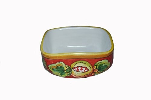 Frutta Rossa Hand Painted Italian Ceramic Condiment Bowl Made in