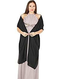 BlackButterfly Chiffon Bridesmaid Wedding Evening Shawl Wrap (Black)