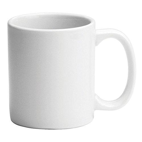 Buffalo F8000000562 Bright White Ware 11 Oz C-Handle Mug - 36 / CS